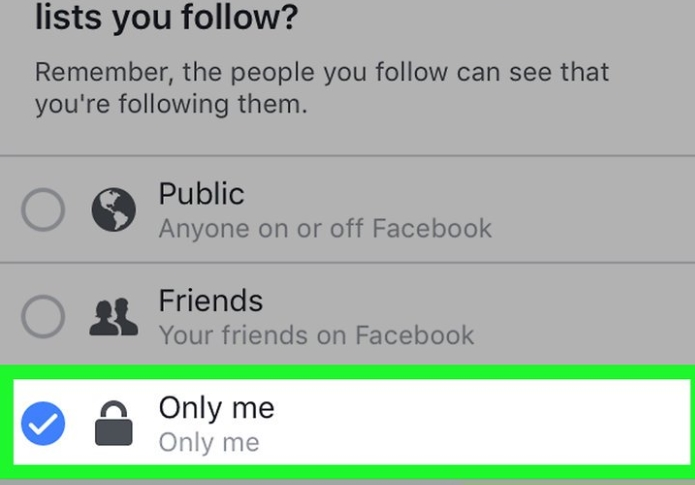 only me facebook
